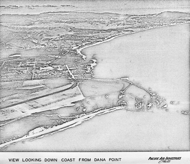 Aerial view of Dana Point, circa late 1950s