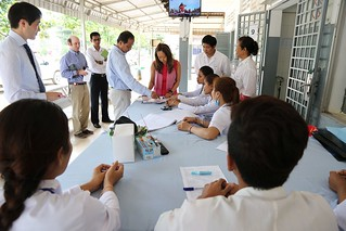Deputy Chief of Mission Julie Chung tours Kampong Speu Referral Hospital, which serves 39,000 people annually. | by USEmbassyPhnomPenh