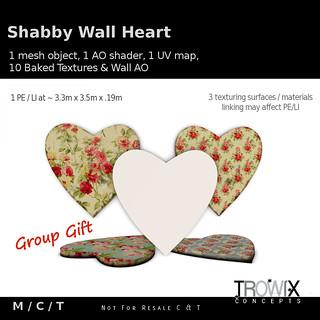 Trowix - Shabby Wall Heart Gift Vend