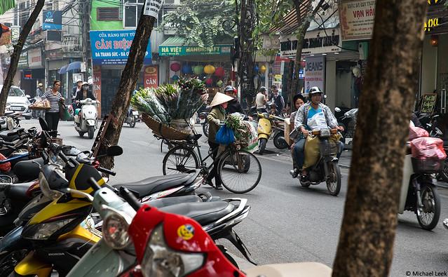Street scene; Old Quarter, Hanoi, Vietnam