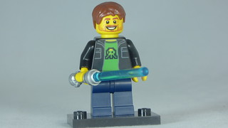 Brick Yourself Custom Lego Figure Happy Gamer with Light saber | by BrickManDan