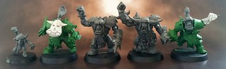 Blood Bowl Orc Conversions - Goblin, Black Orcs and Blitzers | by Paul Hood
