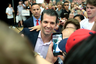 Donald Trump, Jr. with supporters | by Gage Skidmore