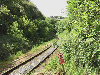 Photo of he north portal of Narberth tunnel, seen from the station platform.