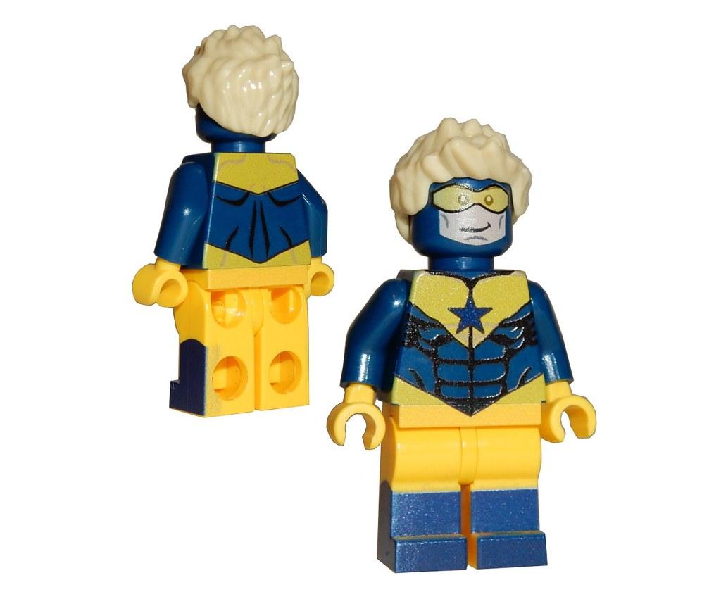DC Universe minifigure on lego bricks Custom Booster Gold