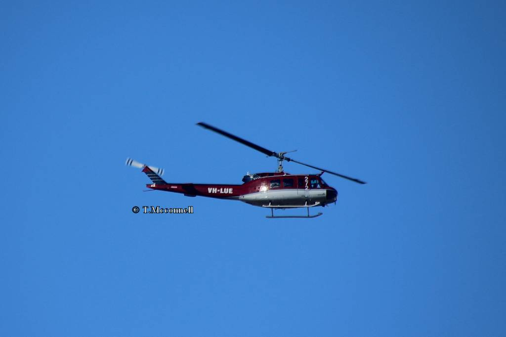 VH-LUE 272 RFS copter to Bankstown 13-11-16