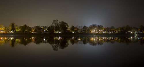 365 365354 november22016 nov weds wednesday 11216 night longexposure new hope jersey bucks hunterdon lambertville river reflection panorama delaware waterfront riverside skyline