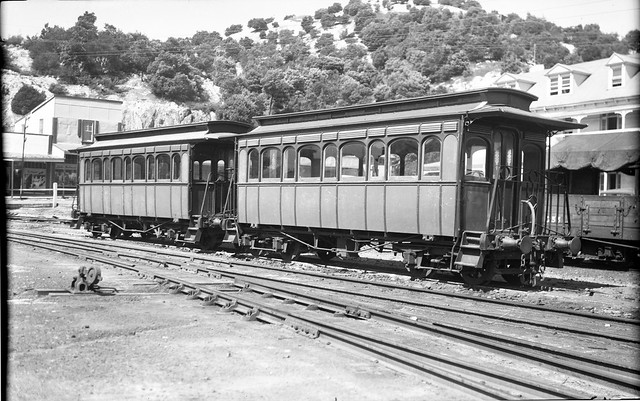 ['O' class carriages of the Mount Lyell Mining & Railway Co. Queenstown, Tasmania] [n.d.]