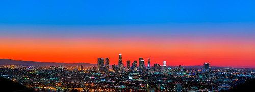 california longexposure panorama skyline sunrise la us losangeles downtown cityscape unitedstates panoramic dtla daybreak downtownlosangeles