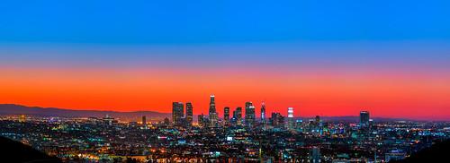 california longexposure panorama skyline sunrise la us losangeles downtown cityscape unitedstates panoramic dtla daybreak downtownlosangeles