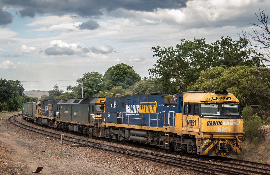 NR51, G537 and NR35 on 7BM4 at Goulburn by AaronHazelgrove01