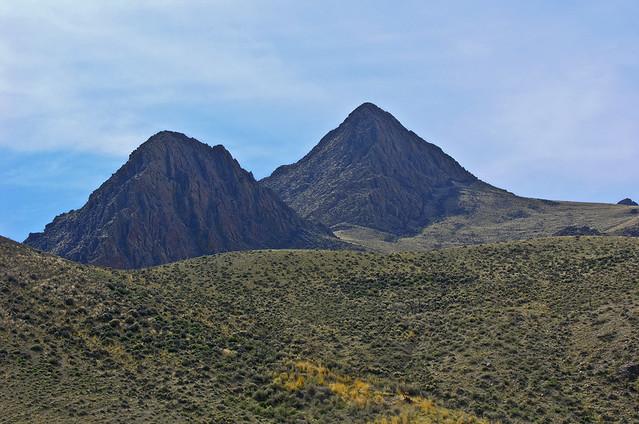 Peaks made of the Challis volcanics
