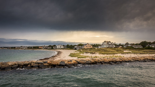 usa newengland clouds capecod massachusetts sunset ocean sea