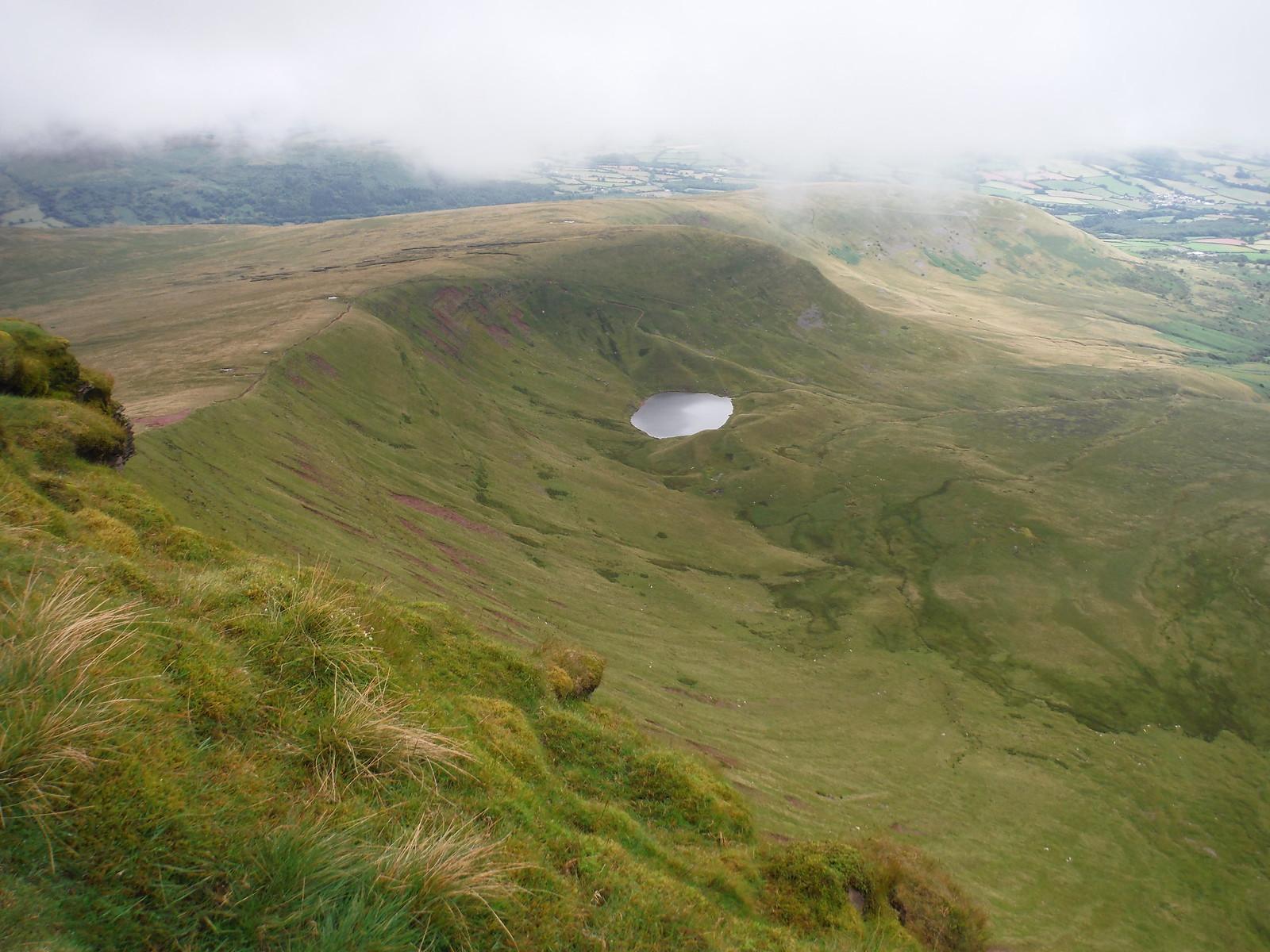 Llyn Cwm Llwch from Corn Du SWC Walk 278 Breacon Beacons Horseshoe - Bannau Brycheiniog