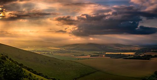 sunset summer sky cloud sussex hills southdowns sussexdowns firlebeacon