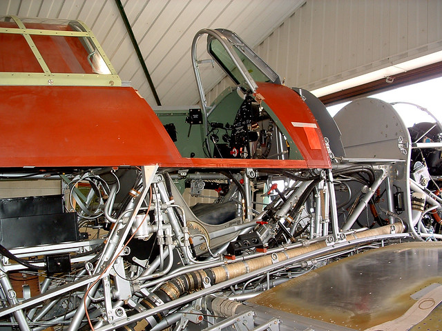 Hawker Hurricane R4118 superstructure, right hand side