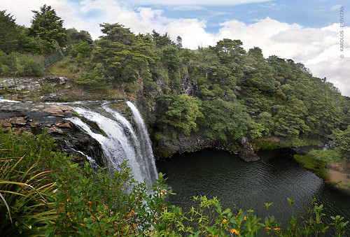 trees newzealand cliff lake water river waterfall rocks stones hill falls foliage northland basalt whangarei slopes