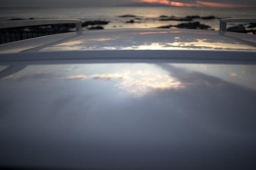 roof sunset sea sky white 35mm island nissan ml yashica izu 128 ohshima rasheen