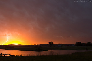 Storm and sunset at Tocal, NSW | by pantsofpie