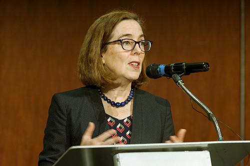 Gov. Brown gives welcome address   by OregonDOT