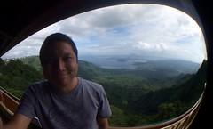 Taal Volcano from Tagaytay (fisheye selfie)