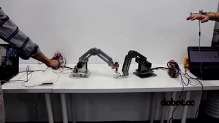 Dobot arm . Gesture control