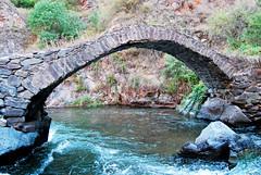 "Medieval bridge ""Tsrtnot"" on the river Trtou (Tartar)... Karvachar, Artsakh, Armenia."