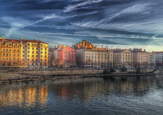 Saone River, Lyon, France