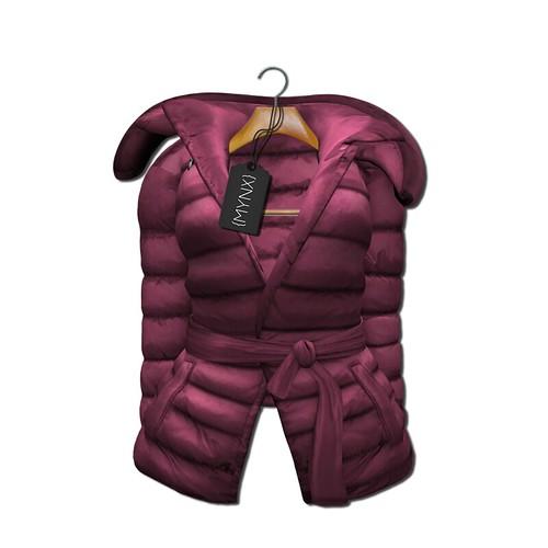 {MYNX} Puffy Tie Jacket - Pink Ad