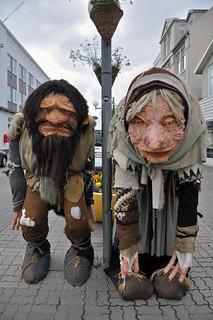 Grýla and Leppalúði hanging out on Akureyri's main shopping street, Hafnarstraeti | by Anosmia