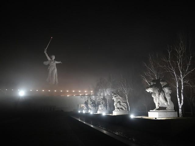 Мемориал героям Сталинградской битвы на Мамаевом кургане. Волгоград
