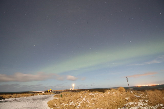 Aurora Borealis (Northern Lights) in Iceland on the early morning of Christmas Day 2015