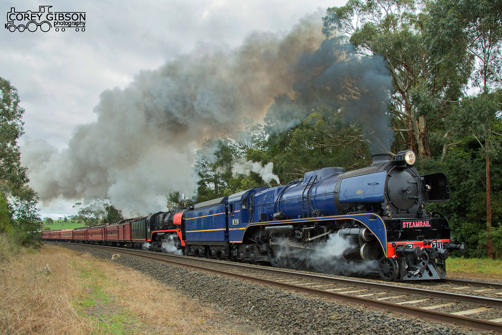 R711 & R761 with the Snow train at Longwarry by Corey Gibson