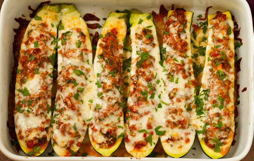 Lentil-Stuffed-Zucchini-Boats-4 | by littlespicejar