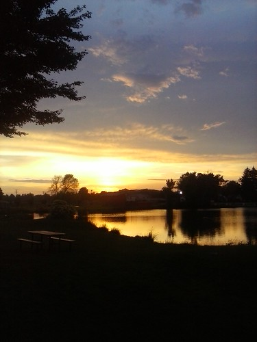 sunset water pond olean oleanny