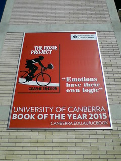 Banner for The Rosie Project on the University of Canberra Library | by tomw99au