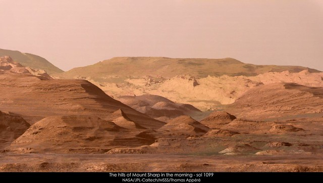 The hills of Mount Sharp in the morning - sol 1099