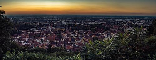 Sonnenuntergang in Weinheim