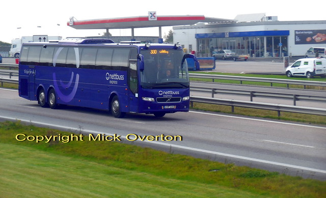 Volvo B13R CYM495 Nettbus route 300 to Gothenberg