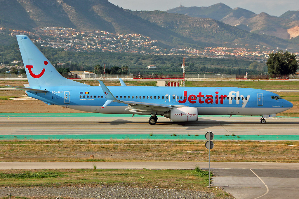 OO-JAH Boeing 737-8K5SC TUI Belgium AGP 17-10-15
