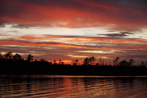 spectacularsunsetsandsunrises cloudsstormssunsetssunrises sunset water clouds creek northwestcreek northcarolina fishingpier fairfieldharbour sonya58 sony