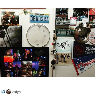 #Repost @axlyn with @repostapp. ・・・ Favorite part of my classroom. Teaching a rock n roll history class this year and I Am going to teach these kids right. #deadsara