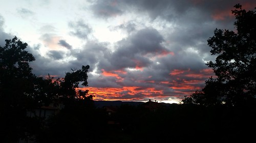 sunset sky orange colors night croatia cloudysky rijeka