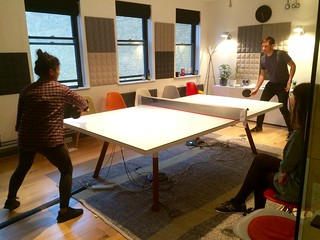 Friday afternoon table tennis at beer o'clock in @Clearleft Towers. | by adactio