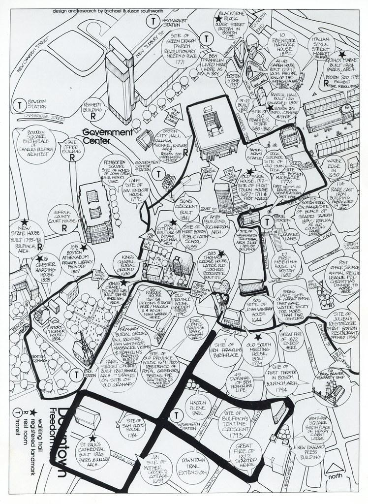 Map of Downtown Boston | Title: Map of Downtown Boston Creat ...