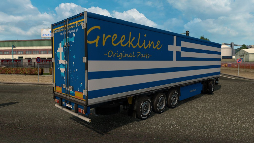 Greekline Trailer | Upload via ETS2 Mods ets2downloads com/t