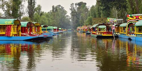 americas canals colorfulboats cuemanco embarcaderocuemanco landscape mexico mexicocity trajineras xochimilco