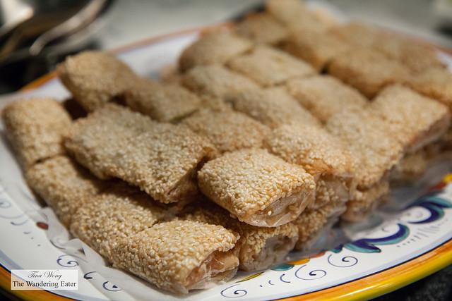 Seafood rolls at Garden Kitchen
