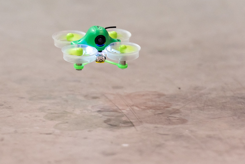 Ethan's Inductrix with the green shell and blades.