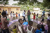 Games and educational activities can help prevent stigmatisation of child victims of Ebola. Here, at a UNICEF-supported Child Friendly Space in Forécariah, Guinea, children can play and receive psychosocial care.  Photo credits: EU/ECHO/Jonathan Hyams